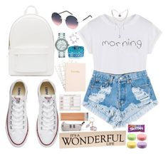 """""""Prepare"""" by fashionable1looks ❤ liked on Polyvore featuring PB 0110, Levi's, Converse, Marc Jacobs, DKNY and Pusheen"""