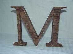 Buchstaben & Schriftzüge - Holzbuchstabe, Vintage, Shabby Chic 20/3,6 cm - ein Designerstück von Designsouris bei DaWanda