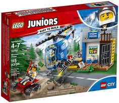 LEGO Juniors City 10751 Mountain Police Chase Set for sale online Lego City Police, Bergen, Van Lego, Shop Lego, Lego Juniors, Jail Cell, Quad Bike, Display Block, Police Station