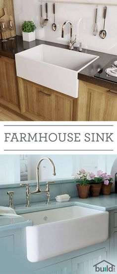 Farmhouse sinks say a lot about style and durability. Also known as apron sinks, these are commonly found in country-style homes and feature a large, deep basin (sometimes double basin), as well as a wide base to hold more pots, pans and whatever else you keep in the kitchen sink. Farmhouse sinks also come in …