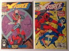 X-Force #2 and #11 2nd app Deadpool! Domino Revealed F/VF New Movie! Rob Liefeld. SOLD!!!