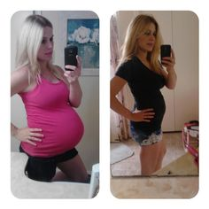 Food baby belly before and after