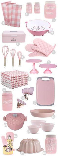 Pink kitchen gadgets and appliances! The perfect pink pops of color for a kitchen! Pink kitchen gadgets and appliances! The perfect pink pops of color for a kitchen! Pink Kitchen Appliances, Kitchen Items, Best Kitchen Gadgets, Pink Kitchen Cabinets, Copper Appliances, Kitchen Canisters, Kitchen Signs, Kitchen Shelves, Kitchen Stuff