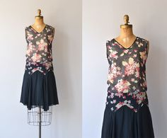 Kikikari 1920s floral print silk dress