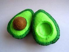 Felt food Avocado set eco friendly children's von FeltFoodTruck