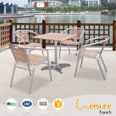 Popular outdoor furniture aluminum table and chair for restaurant