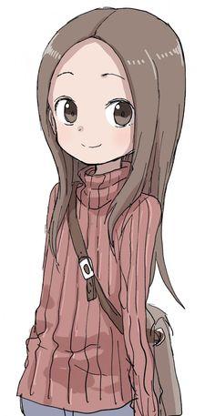 Karakai Jouzu no Takagi-san Cute Anime Pics, Anime Girl Cute, Kawaii Anime Girl, Anime Art Girl, Manga Art, Chica Anime Manga, Anime Chibi, Cute Chibi, Anime Demon