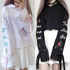 3610245477f1b8 White/Black Harajuku Short Hoodie Jumper K12934