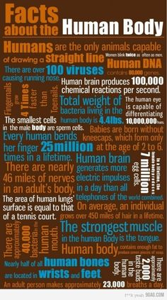 21 FACTS about the Humans body and why we are so amazing!
