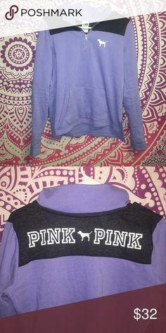 VS PINK HALF ZIP Just like new only worn once! PINK Victoria's Secret Sweaters