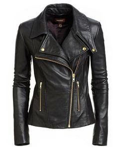 New Women Motorcycle Black Lambskin Leather Jacket Coat Size XS S M L XL WJ111 #Unbranded #Motorcycle