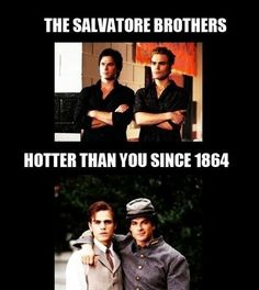 Paul Wesley and Ian Somerhalder - TVD Stefan And Damon Salvatore Vampire Diaries Memes, Vampire Diaries Damon, Vampire Daries, Vampire Diaries The Originals, Paul Wesley, Steven Mcqueen, Movies And Series, Cw Series, Stefan Salvatore