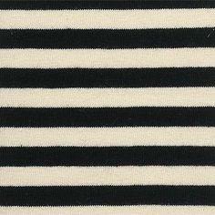 Jersey m/Streifen 10 mm Schwarz/Natur Preis: 13,95 pro Meter | 95% Baumwolle, 5% Elastan | Ca. 145 cm breit | Art.Nr. 270861