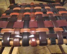 how to redo a rush seat | Recycled Belts: Renewed Rush Seat Chairs