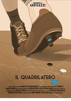 """2° Classificato Contest """"Una Locandina per il Quadrilatero""""  Artwork by Andrea Zanetti."""