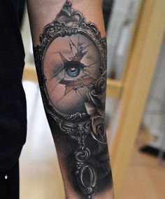 antique hand mirror tattoo. Tattoo Eye In The Broken Mirror - Ideas Designs Antique Hand