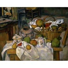 Still Life With Basket c1888-1900 Paul Cezanne (1839-1906 French) Musee d Orsay Paris France Canvas Art - Paul Cezanne (18 x 24)