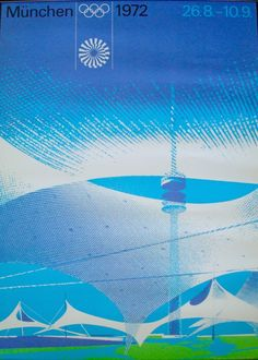 Otl Aicher. Olympic Games Stadium Poster. 1972 Munich. Retrieved from: http://gordani.tumblr.com/post/126425387548/wwwillustractiongallerycom