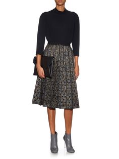 Metallic floral-brocade pleated skirt | Marc Jacobs | MATCHESFASHION.COM UK
