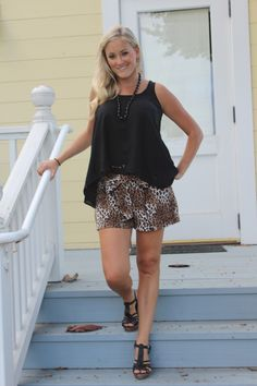 #leopard, #black, #wedges, #shorts, #fashion
