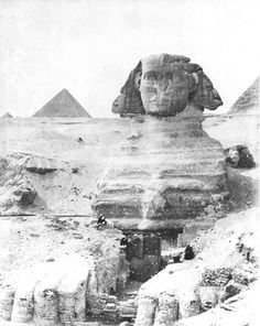 The Great Sphinx, probably during the clearance in 1886.  Sebah, J. P., Giza (probably 1886 [Probably during the 1886 clearance.])