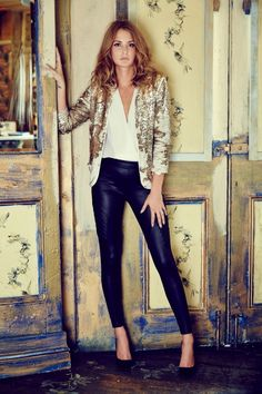 Millie Mackintosh sexy leather trousers