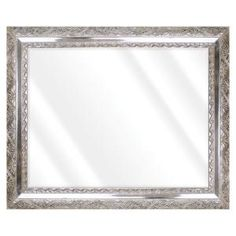 Unbranded Large Rectangle Shiny Silver Beveled Glass Art Deco Mirror (42 in. H x 30 in. W)-16775-36-58S - The Home Depot Distressed Frames, Contemporary Wall Mirrors, Art Deco Mirror, Beveled Glass, Glass Art, Champagne, Antiques, Silver, Space