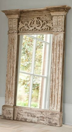 Mirror by Embella Home Mirrors And Chandeliers, I Love Mirrors, Beautiful Mirrors, Floor Mirrors, Painted Furniture, Diy Furniture, Trumeau Mirror, Mirror Mirror, Tuscan Style