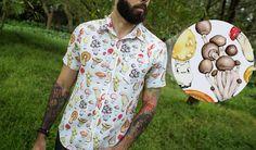 Shroom Shirt   Men's Short-Sleeve Button-Up Shirt   Betabrand