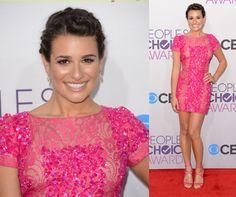 Lea Michele in Elie Saab - 2013 People's Choice Awards