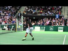 Be careful not to blink! #Monfils shows off his speed!