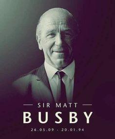 Sir Matt Busby Manchester United.....