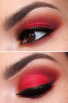 Ojos Rojos y Pestañas Espectaculares.