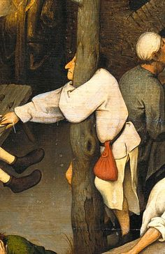 Питер Брейгель старший - нидерландский притчи, деталь, 1559   _    Pieter Bruegel the Elder - The Dutch Proverbs, detail, 1559