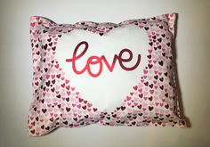 Handmade Love Pillow by MerciCadeaux on Etsy