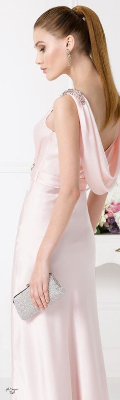 Sugar Plum Christmas / karen cox.  Blush Pink Gown.  Aire Barcelona