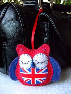 Owl Charm Union Jack Jubilee by iCandy Crafts on Folksy £5.00