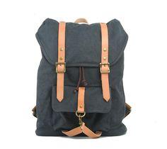 Canvas Rucksack Backpack Schulrucksack Schultertasche Reisetasche Vintage