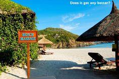 It doesn't get much more relaxing than a massage; except maybe a massage on the beach!  barretttravel.globaltravel.com pamelabarrett22@gmail.com
