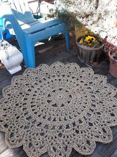 Crochet Jute Rug Pattern