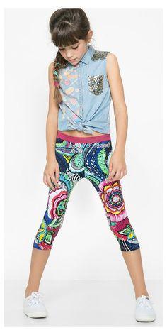 4105cd45fce3 Desigual Leggings Araza Kids Clothes Sale, Floral Leggings, Dresses Kids  Girl, Kids Girls