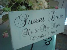 What a great sign to add to your wedding day decor. It can be used in so many different ways:)