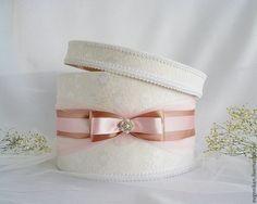 """Купить Свадебная коробка-казна """"Бежево-розовая дымка"""" - свадебная казна, свадебная коробка"""
