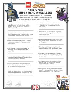 Take this quiz and test your super hero knowledge! #LEGO