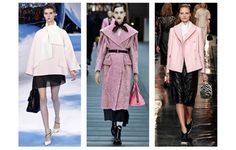 Powder Pink Coats Christian Dior, Miu Miu Carven