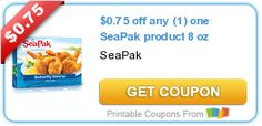 $0.75 off any (1) one SeaPak product 8 oz #coupon