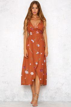 Fairy Garden Life Maxi Dress Rust
