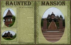 "The McCune ""Haunted"" Mansion in Salt Lake City - scrapbook page by EKDuncan at http://www.ekduncan.com/2012/08/digital-scrapbook-pages-salt-lake-city.html#"