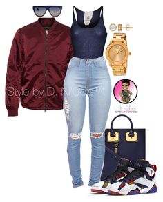 """""""Untitled #2941"""" by stylebydnicole ❤ liked on Polyvore featuring Sophie Hulme, Acne Studios, Friendly Hunting, CÉLINE and Movado"""
