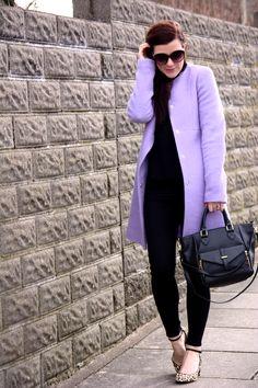 Rachel the Hat, the perfect coat #lilac #coat #ootd